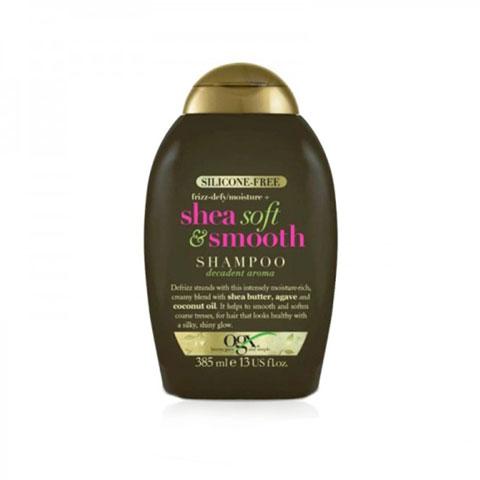 OGX Silicone-Free Frizz-Defy Moisture+ Shea Soft & Smooth Shampoo 385ml