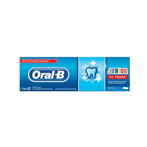 Oral B Junior 6+ Years Toothpaste with Sugar Shield 75ml