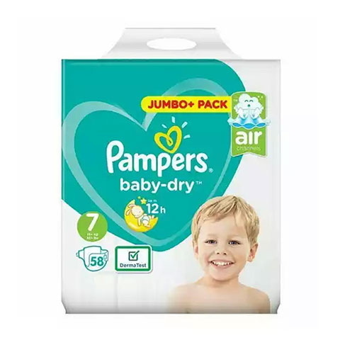 Pampers Baby Dry Belt Up To 12h 7 (15+ kg) UK 58 nappies