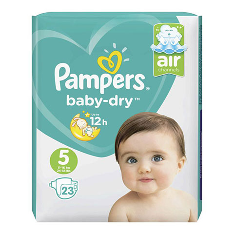 Pampers Baby Dry Nappies Up To 12h 5 (11-16 kg) 23 Nappies