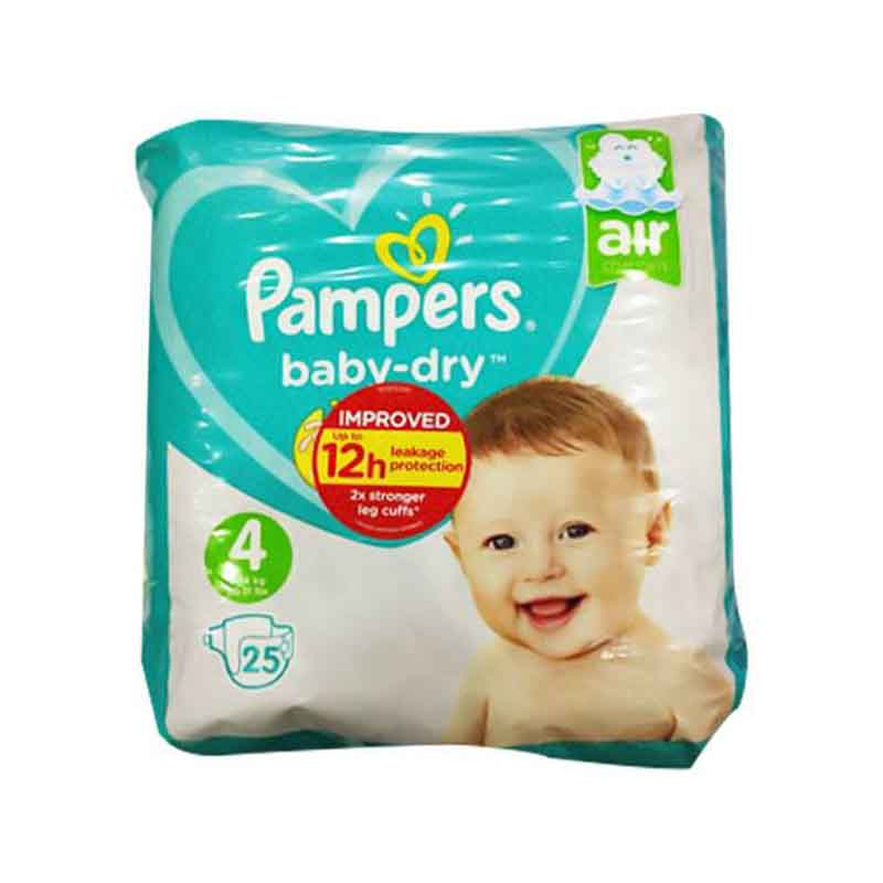 Pampers Baby Dry Nappy Pants Up To 12h 4 (9-14 kg) 25 Nappies