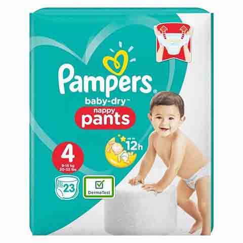 Pampers Baby Dry Nappy Pants Up To 12h 4 (9-15 kg) 23 Nappies