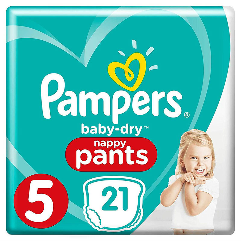 Pampers Baby Dry Nappy Pants Up To 12h 5 (12-17 kg) 21 Nappies