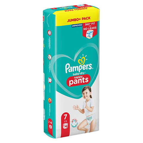 Pampers Baby-Dry Up to 12h Nappy Pants 7 ( 17+ Kg ) 48 Nappies