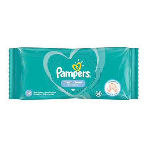 Pampers Fresh Clean Baby Wipes - 52 Wipes