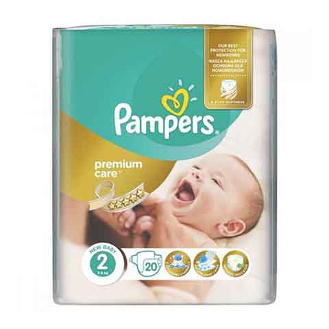 Pampers Premium Care 2 (3-6 kg) 20 Nappies