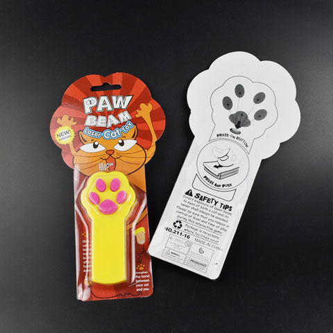 Paw Beam Laser Funny Cat Toy - Yellow (20215)