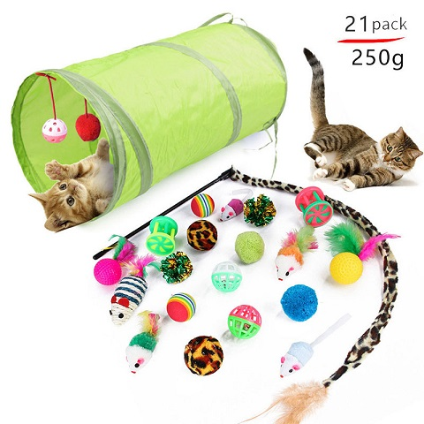 Pet Cat Toy Set - 21pcs (20223)