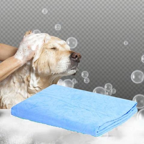 Pets Quick-Dry Soft Absorbent Fiber Bath Towel - Blue (20212)