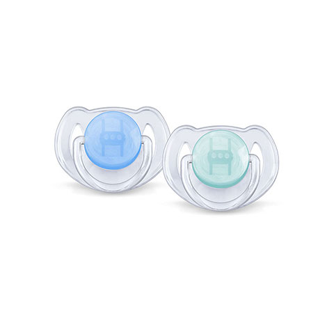 Philips Avent 2 Translucent Orthodontic Soothers 6-18m - Blue/Pastel