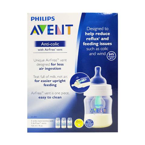 Philips Avent  Anti-Colic Baby Bottles 125ml - 3Pcs (4933)