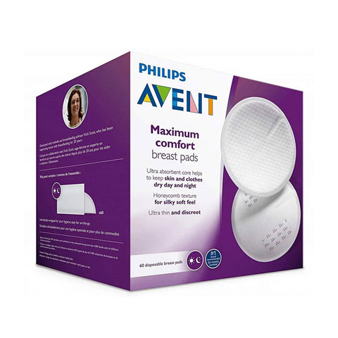 Philips Avent Ultra Comfort Disposable Breast Pads - 60 Pads