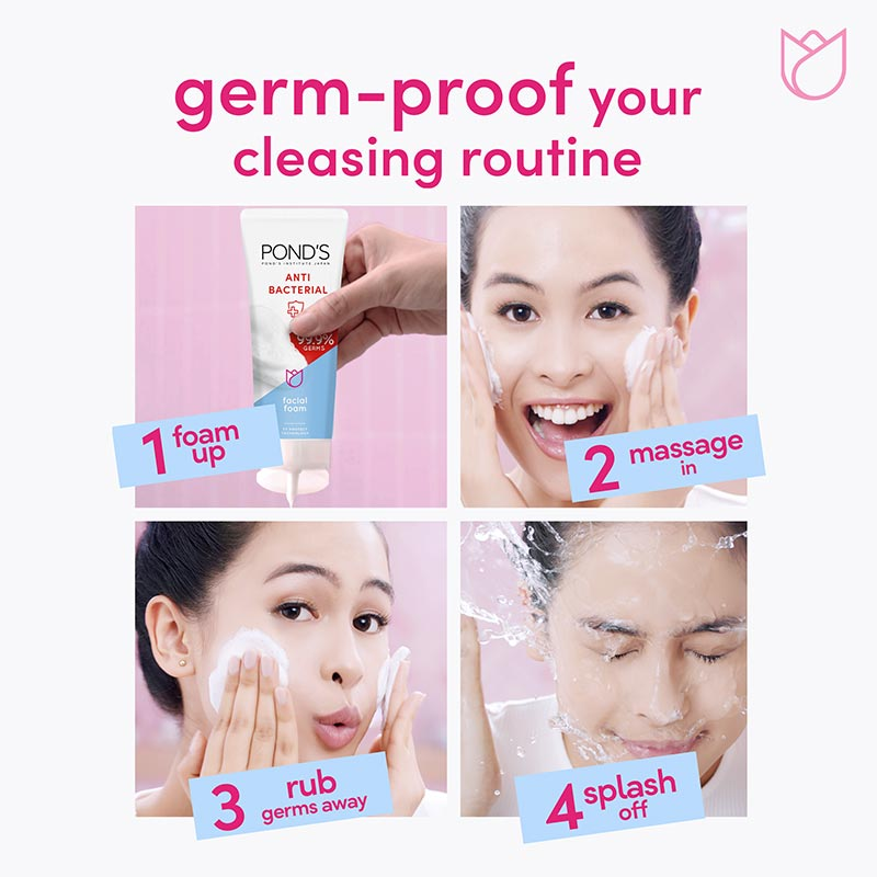Ponds Facewash Antibacterial 100g