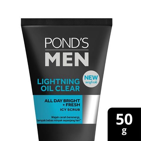 Ponds Men Facewash Lightning Oil Clear 50g
