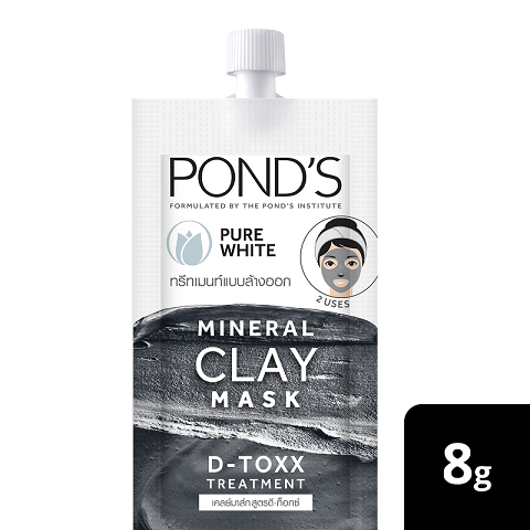 Pond's Mineral Clay Mask Pure White D-TOXX 8g