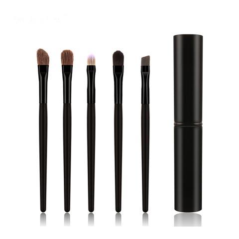 Pony Hair 5pcs Makeup Brushes Set - Black (20112)