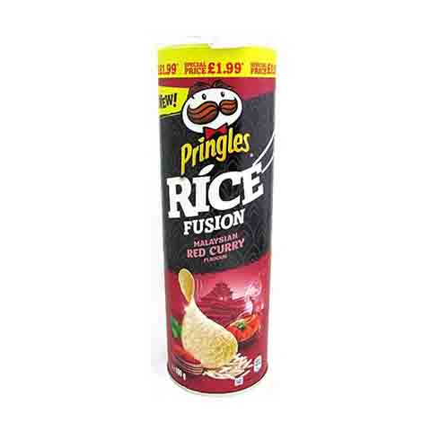 Pringles Rice Fusions Crisps Malaysian Red Curry Flavour 160g