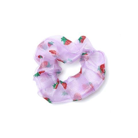 Fashionable Organza Hair Scrunchies for Women - Purple