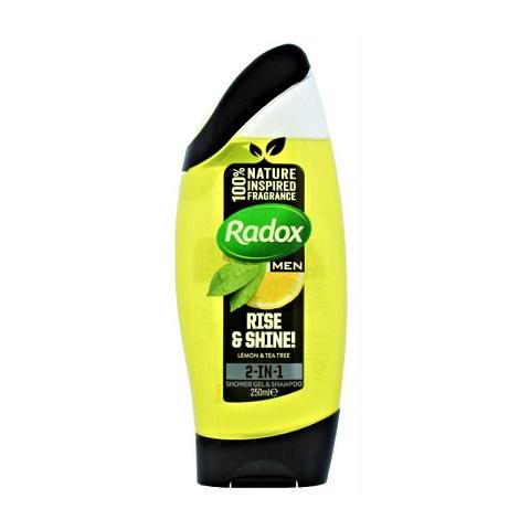 Radox Men Rise & Shine Lemon & Tea Tree 2-In-1 Shower Gel & Shampoo 250ml