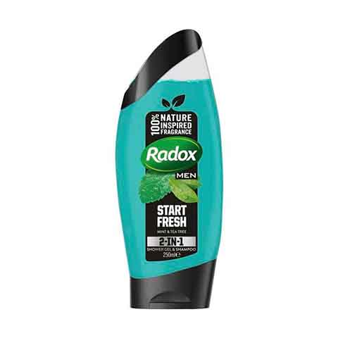 Radox Men Start Fresh Mint & Tea Tree 2 In 1 Shower Gel & Shampoo 250ml
