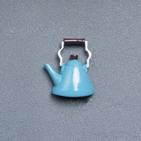 Refrigerator Magnet Resin Decorative 3D Stickers - Blue Kettle (20176)