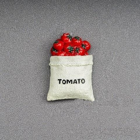 Refrigerator Magnet Resin Decorative 3D Stickers - Tomato (20181)