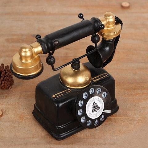 Resin Craft  Antique European Style Handset Telephone Showpiece (20174)