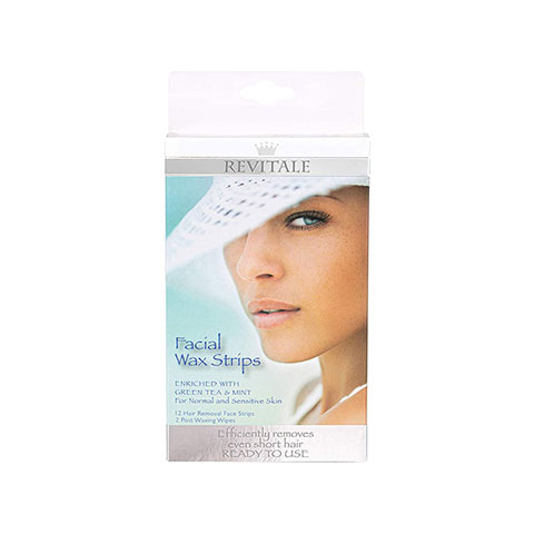 Revitale Facial Wax Strips - 12 Strips