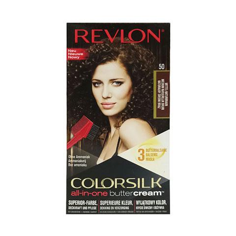 Revlon Colorsilk All-In-One Buttercream Hair Colour - 50 Medium Natural Brown