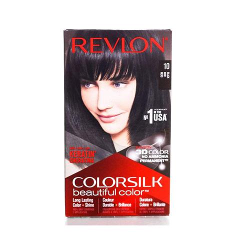 Revlon ColorSilk Beautiful 3D Hair Color - 10 Black (Noir)