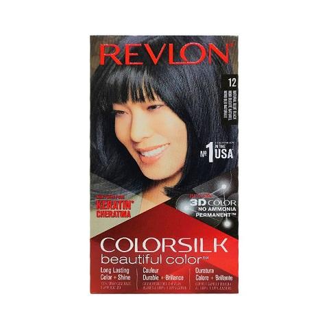 Revlon ColorSilk Beautiful 3D Hair Color - 12 Natural Blue Black