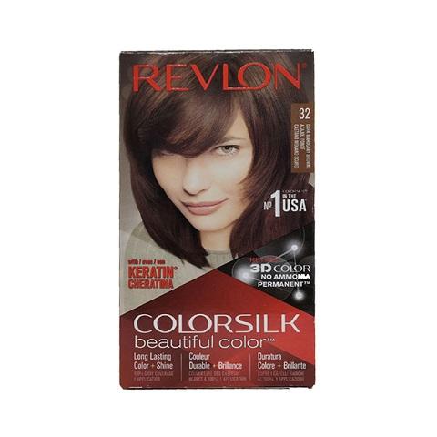 Revlon ColorSilk Beautiful 3D Hair Color - 32 Dark Mahogany Brown