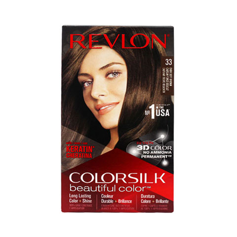 Revlon ColorSilk Beautiful 3D Hair Color - 33 Dark Soft Brown