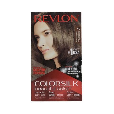 Revlon ColorSilk Beautiful 3D Hair Color - 40 Medium Ash Brown