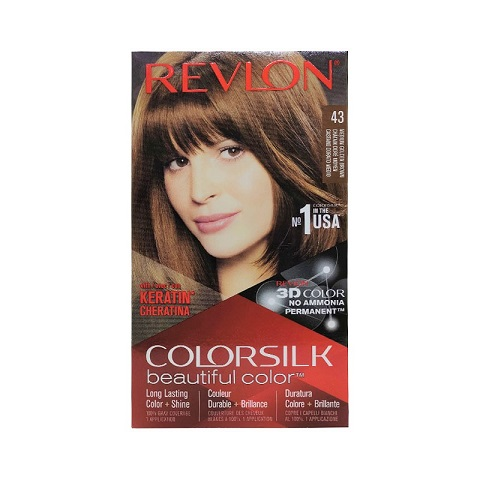 Revlon ColorSilk Beautiful 3D Hair Color - 43 Medium Golden Brown