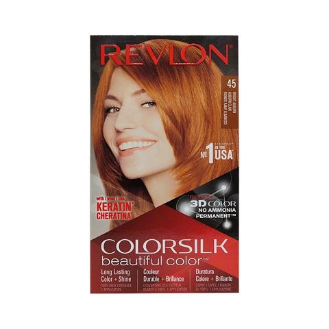 Revlon ColorSilk Beautiful 3D Hair Color - 45 Bright Auburn