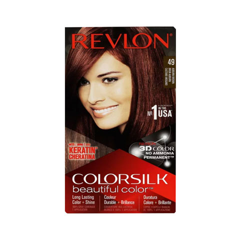 Revlon ColorSilk Beautiful 3D Hair Color - 49 Auburn Brown