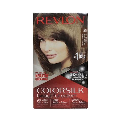 Revlon ColorSilk Beautiful 3D Hair Color - 50 Light Ash Brown