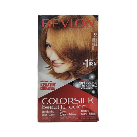 Revlon ColorSilk Beautiful 3D Hair Color - 53 Light Auburn