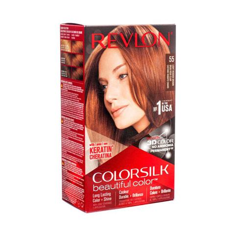 Revlon ColorSilk Beautiful 3D Hair Color - 55 Light Reddish Brown