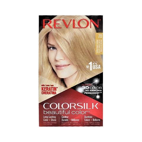 Revlon ColorSilk Beautiful 3D Hair Color - 70 Medium Ash Blonde