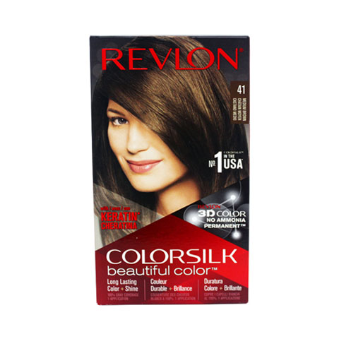 Revlon ColorSilk Beautiful 3D Permanent Hair Color - 41 Castano Medio