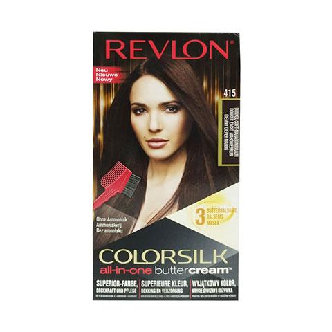 Revlon ColorSilk Buttercream Hair Color - 415 Dark Soft Mahogany Brown