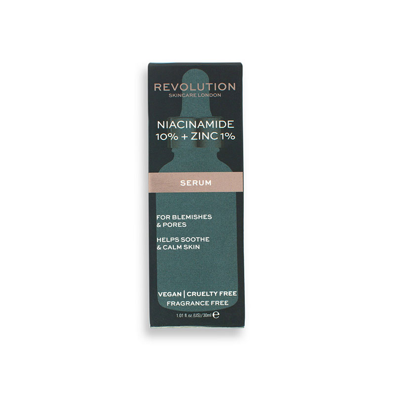Revolution Skincare 10% Niacinamide + 1% Zinc Blemish & Pore Refining Serum 30ml
