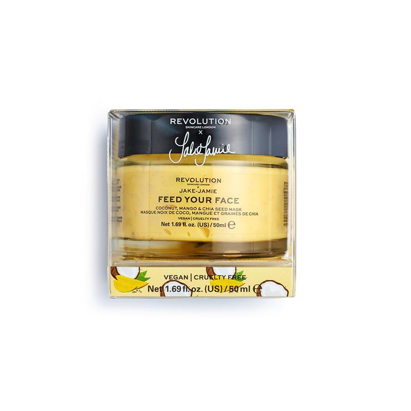 Revolution Skincare X Jake Jamie Feed Your Face Coconut Mango & Chia Seed Radiant Glow Face Mask 50ml
