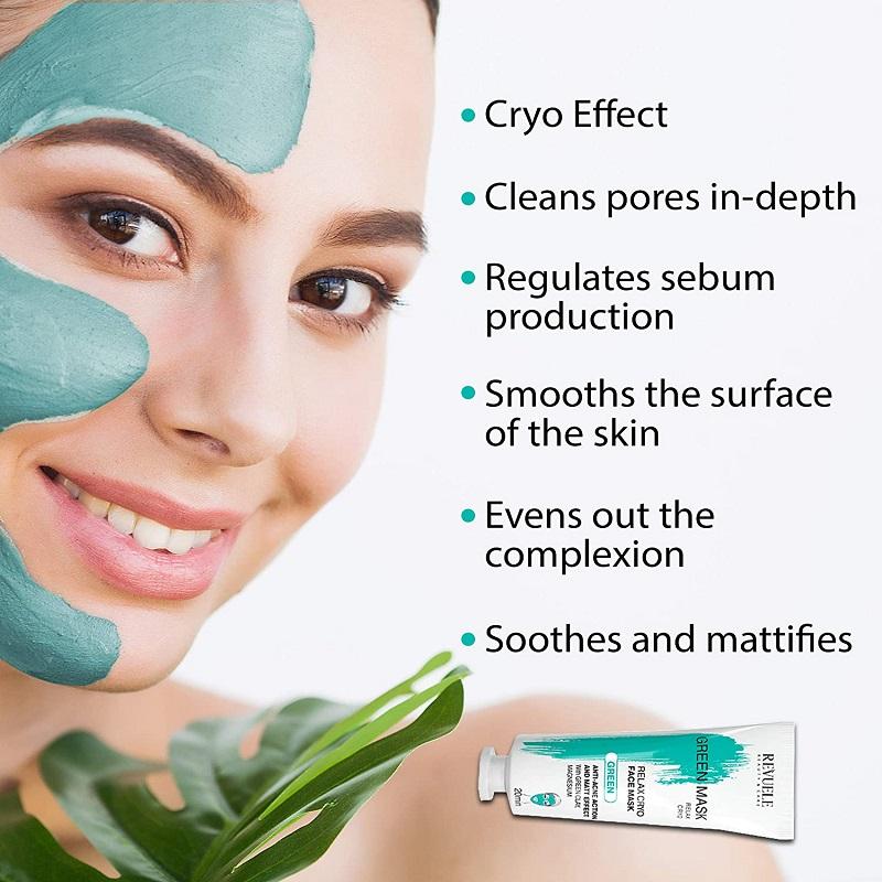 Revuele Beauty & Care Cryo Effect Green Face Mask 80ml