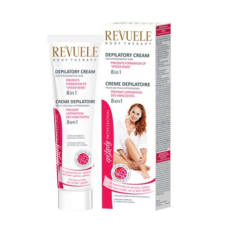 Revuele Body Therapy 8 In 1 Depilatory Hair Removal Cream For Hypersensitive Skin 125ml