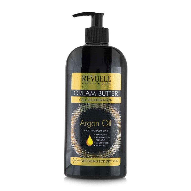 Revuele Cream - Butter Argan Oil 5 In 1 Hand and Body Lotion 400ml