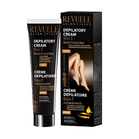 Revuele Salon Perfect 9 In 1 Moisturizing Hair Removal Cream For Legs With Argan Oil & Hyaluronic Acid 125ml