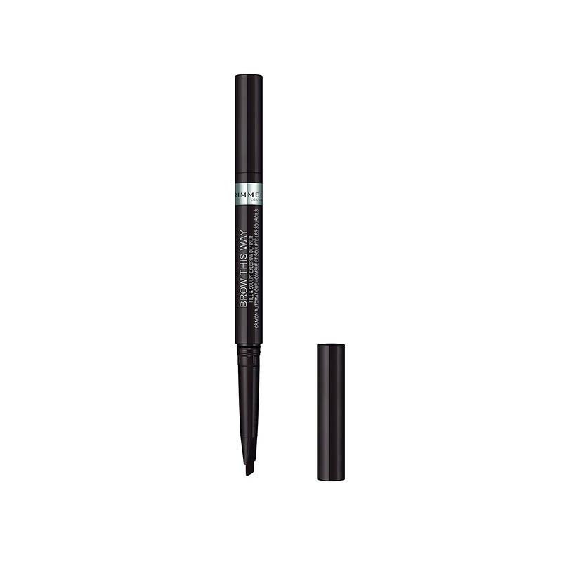 Rimmel London Brow This Way Fill and Sculpt Eyebrow Definer - 004 Soft Black